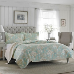 Laura Ashley King Brompton Serene Quilt Set Bedding