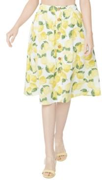 BCBGeneration Printed A-Line Midi Skirt