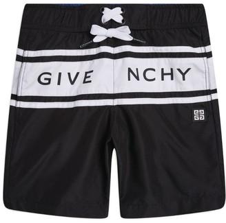 Givenchy Kids Logo Swim Shorts