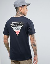 Volcom Appointed T-shirt In Navy With Backprint