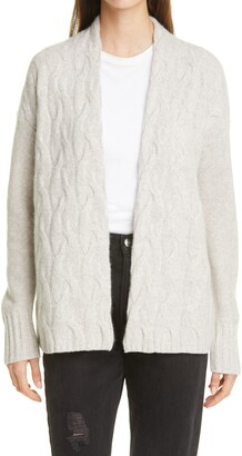 Nordstrom Signature Nordstrom Cable Knit Cashmere Cardigan