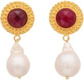 Carousel Jewels Dyed Sapphire & Baroque Pearl Earrings