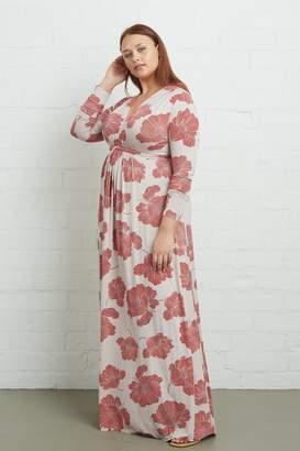 White Label Long Sleeve Full Length Caftan Dress - Ruby Matilija, Plus Size