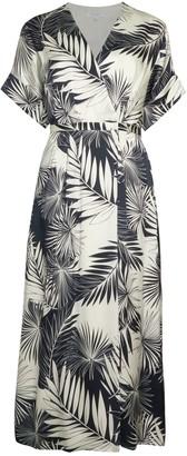 Equipment Tavine Silk Print Midi Dress