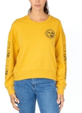 Rebellious One Juniors' Celestial Crewneck Sweatshirt