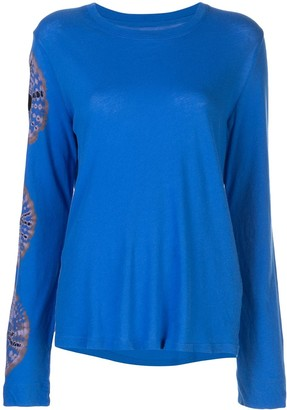 Raquel Allegra Embroidered Long-Sleeve Top