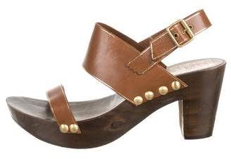 Pedro Garcia Leather Clog Sandals