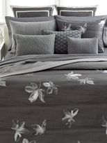 Vera Wang Charcoal Flower King Fitted Sheet