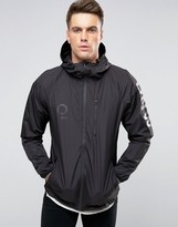 Pull&bear Lightweight Jacket With Sleeve And Back Print In Black