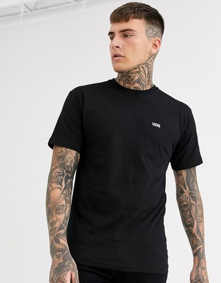 Vans t-shirt with small logo in black