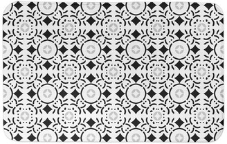 Designs Direct Creative Group Black and White Tile 34x21 Bath Mat