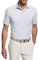 Peter Millar Crown Sport Chesapeake Striped Polo Shirt, White/Black