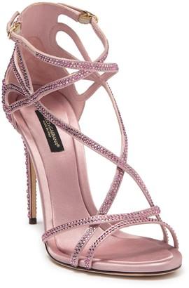 Dolce & Gabbana Embellished Stiletto Heel Sandal