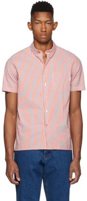 Paul Smith Red Stripe Casual Fit Short Sleeve Shirt
