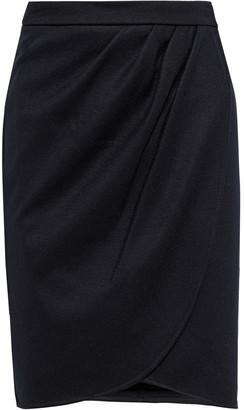 Max Mara Tarso Pleated Wool-jersey Wrap Skirt