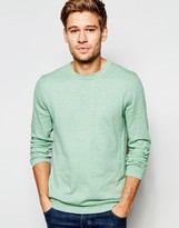 Esprit Crew Neck Jumper In Cotton Cashmere