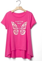 Gap Glitter graphic swing tee