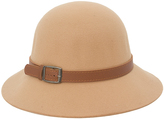 Magid Camel & Tan Belted Cloche