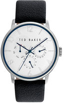 Ted Baker Mens Smart Casual Stainless Steel Chronograph and Leather Strap Watch