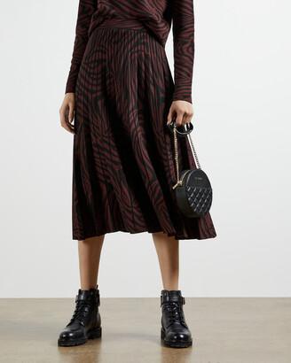Ted Baker VIVIYNN Zebra print pleated skirt