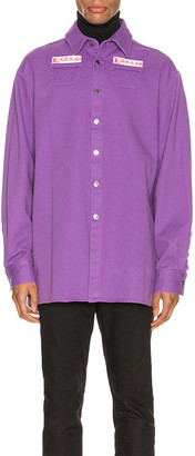 Raf Simons Denim Shirt in Purple | FWRD