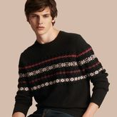 Burberry Fair Isle Knit Cashmere Wool Sweater