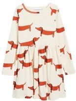 Mini Rodini Toddler Girl's Dogs Organic Cotton Dress