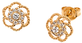 Sweet & Soft Swarovski® Crystal & Gold Flower Stud Earrings