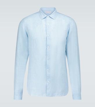 Orlebar Brown Giles long-sleeved linen shirt