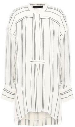 Proenza Schouler Distressed Striped Crepe Tunic