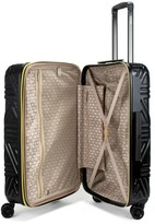 "Badgley Mischka Contour 24"" Hard Expandable Checked Suitcase"