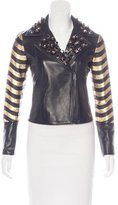 Fendi Leather Embellished Jacket
