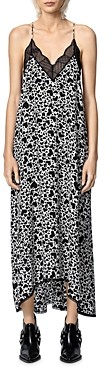 Zadig & Voltaire Risty Lace Trim Printed Dress