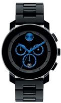 Movado Bold 43.5mm Bold Chronograph Watch, Black/Blue