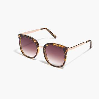 J.Crew Oversized gold-frame sunglasses