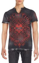 Affliction Seamed Graphic Tee
