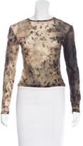 Roberto Cavalli Abstract Print Long Sleeve Top