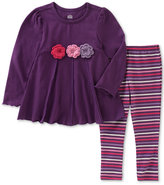 Kids Headquarters 2-Pc. Tunic and Striped Leggings Set, Little Girls (4-6X)
