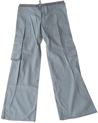 IRO Green Cotton Trousers