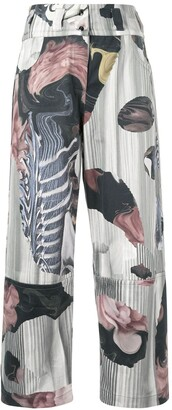 Roberts Wood Collage Print Trousers