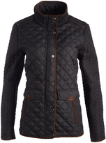 Weatherproof Black Flap-Pocket Quilted Jacket - Plus Too