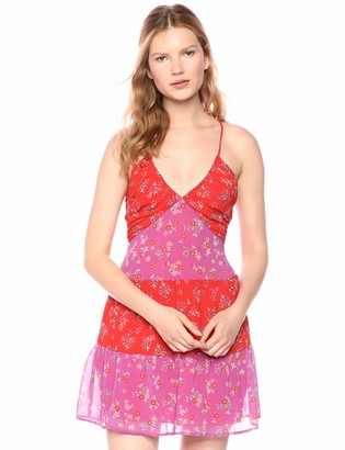 BCBGeneration Women's Hibiscus Floral Flared Dress