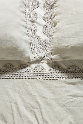 Anthropologie Tranquility Linen Blend Sheet Set By in Green Size KING SET