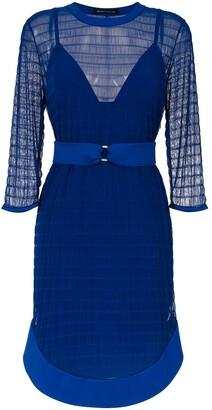 Gloria Coelho Tulle Belted Dress