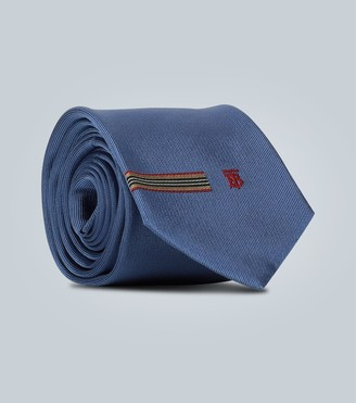 Burberry Silk logo tie