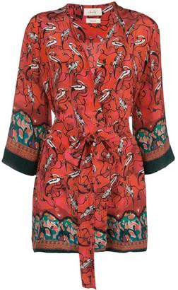 CHUFY Najima bird-print robe