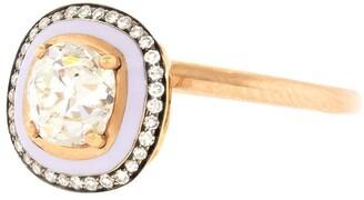 Selim Mouzannar 18kt rose gold Mina diamond and enamel ring