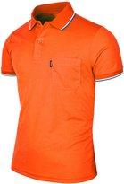 BCPOLO Men's Polo Shirt Dir Fit Solid Polo Shirt Athletic Short Sleeve Various Polo-XL