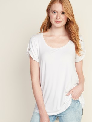Old Navy Luxe Twist-Sleeve Scoop-Neck Tunic for Women
