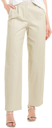 Theory Pleated Leather Trouser